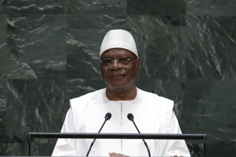 Marking a shift in his previous approach, Mali's President Ibrahim Boubacar Keita acknowledged that he has opened up for dialogue with armed groups [Frank Franklin II/AP]