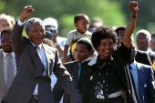 On February 11, 1990, Nelson Mandela was freed from detention after 27 years as a political prisoner [File: Ulli Michel/Reuters]
