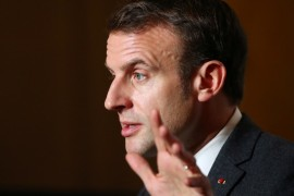 Emmanuel Macron has defended the right to criticise religion [Denis Balibouse/Reuters]