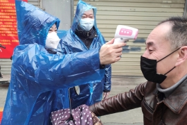 Protective measures have been stepped up in China to try to curb the spread of the virus [China Daily/Reuters]