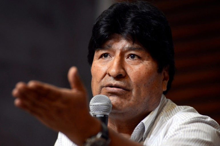 Morales is currently living in exile in Argentina having fled Bolivia in November [File:Mario De Fina/Reuters]