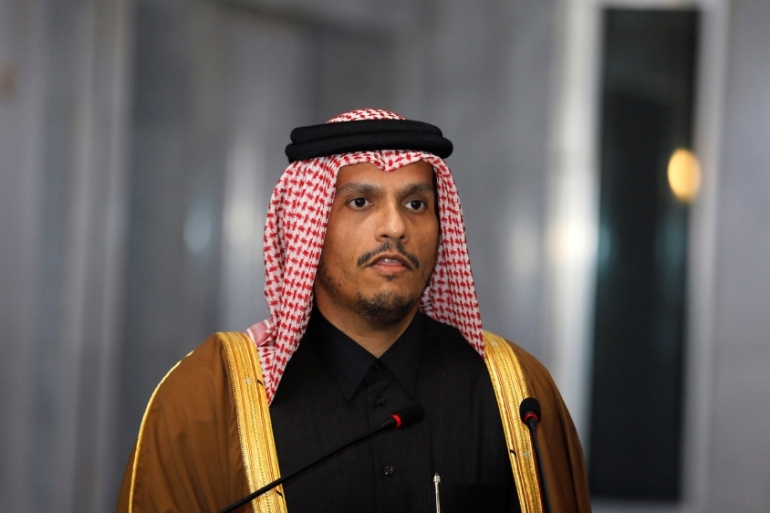 Sheikh Mohammed said division was not in the interest of concerted Arab efforts to get the Israelis to negotiate with the Palestinians [File: Khalid al-Mousily/Reuters]