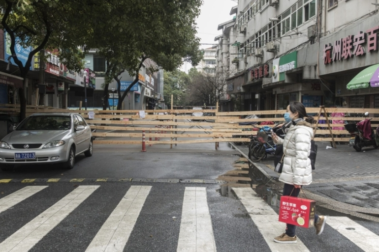 Chinese businesses, including those in Hangzhou, have been hit hard by the deadly coronavirus outbreak that has claimed more than 1,350 lives [Qilai Shen/Bloomberg]