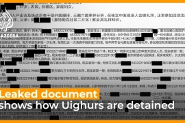 Leaked document shows how Uighurs are detained in China [Daylife]