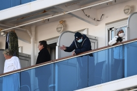About 3,600 people are quarantined on the Diamond Princess cruise ship [Charly Triballeau/AFP]