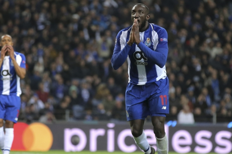 After the match, Marega expressed his anger on social media and called the fans who insulted him 'idiots' [File: Luis Vieira/AP]