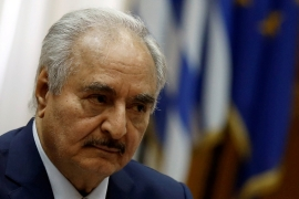 Forces loyal to Libyan commander Khalifa Haftar have been trying since last April to take Tripoli but have failed to breach the city's defences [File: Costas Baltas/Reuters]