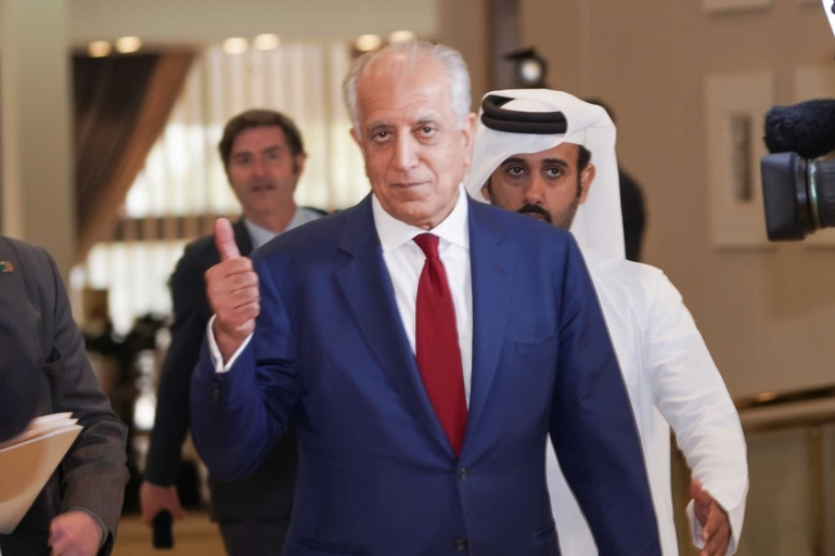 Zalmay Khalilzad had negotiated a deal with the Taliban in February [Sorin Furcoi/Al Jazeera]