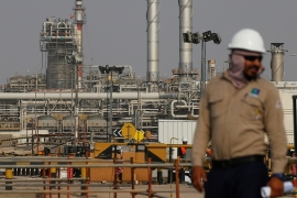 Oil exporters in the Middle East and North Africa (MENA) region are expected to see a yearly decline in oil export receipts this year of $226bn, according to the IMF [File: Maxim Shemetov/Reuters]