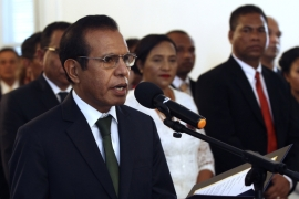 Prime Minister Taur Matan Ruak during his inauguration in Dili, capital of East Timor, in June 2018 [File: Kandhi Barnez/AP]