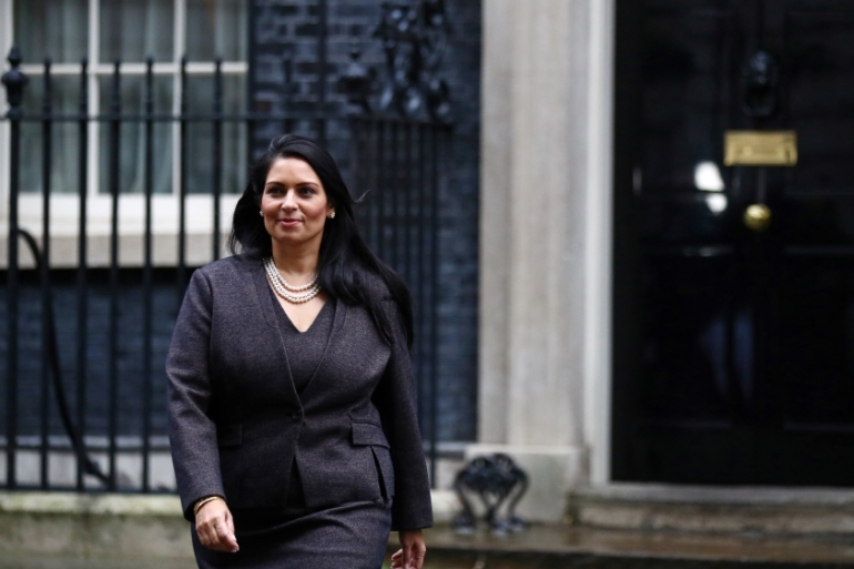 "The UK's Home Secretary, Priti Patel, has announced plans for a new points-based immigration system to reduce the number of ""unskilled"" workers coming to the country. [REUTERS/Hannah McKay]"