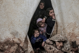 More than 80 percent of the newly displaced people are women and children [Muhammed Said/Anadolu]