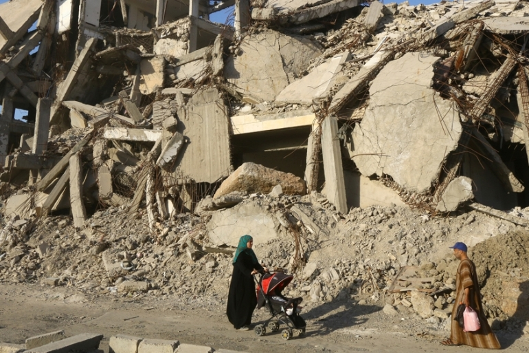 Reconstruction and international support have been limited despite approximately 75 percent of Raqqa city being destroyed by coalition air raids during the anti-ISIL operation [File: Aboud Hamam/Reuters]