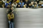 If we further blur the lines between the inanimate and animate, how will we define life in the future, asks Diab. Crowds are seen at the Se Station in Sao Paolo, Brazil [Paulo Whitaker/Reuters]