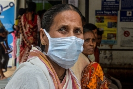 In India there are growing fears that 'stagflation' -a term coined to reflect the twin pressures of a stagnant economy and rising consumer prices - is squeezing household incomes as the coronavirus outbreak spreads fears of a global recession [File:Bloomberg]