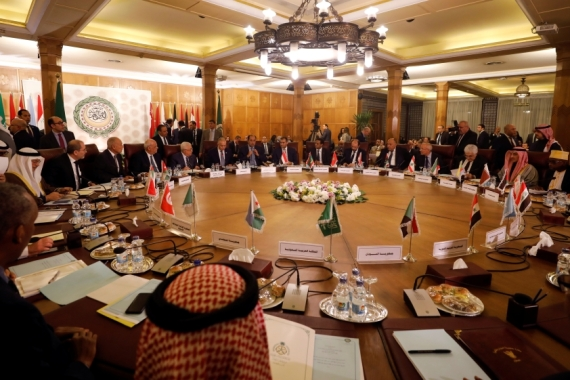 A view of a meeting of Arab League foreign ministers after US President Donald Trump announced his Middle East plan [File: Mohamed Abd el-Ghany/Reuters]