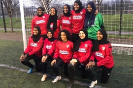 Iqra Ismail now runs Never Underestimate Resilience, a UK team comprising women footballers from ethnic minority backgrounds [Courtesy: Iqra Ismail]