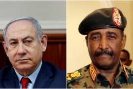 Benjamin Netanyahu, left, and Abdel Fattah al-Burhan, right [File: Reuters]