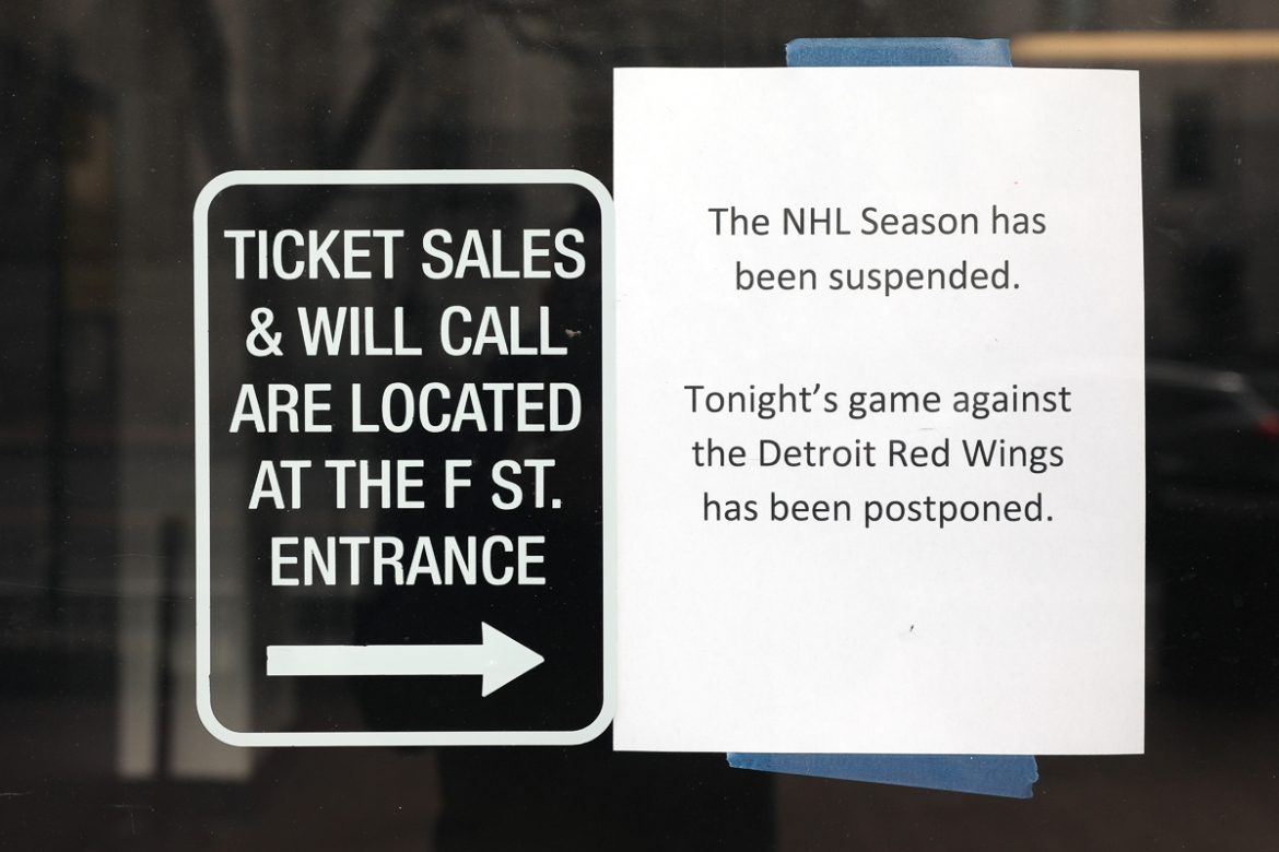 The NHL announced it has suspended its season due to the uncertainty of the coronavirus. [Patrick Smith/Getty Images/AFP]