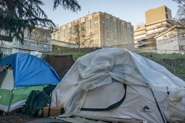 The Seattle area has the country's third largest concentration of citizens experiencing homelessness [Ian Morse/Al Jazeera]
