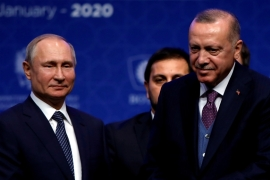 Russian President Putin and Turkey's Erdogan are scheduled to meet in Moscow on March 5 about the raging war in Syria [File: Umit Bektas/Reuters]