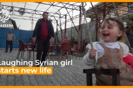 Laughing Syrian girl starts a new life in Turkey [Daylife]