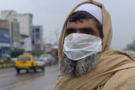 Officials visiting the city of Herat say that there is still only a small percentage of the population that has taken the necessary safety precautions [Mohammad Aref Karimi/Al Jazeera]