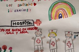 Spaniards have been trying to cheer up coronavirus patients with letters and pictures [Graham Keeley/Al Jazeera]
