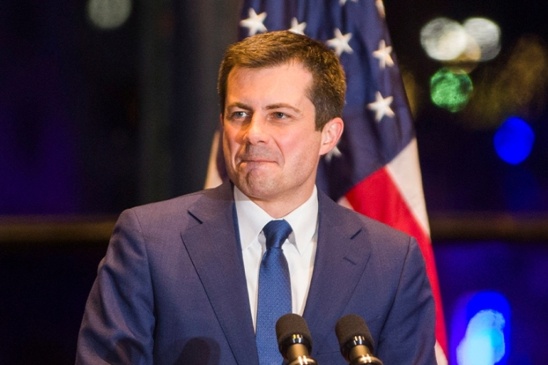 Democratic US presidential candidate Pete Buttigieg announces his withdrawal from the race for the 2020 Democratic presidential nomination [Santiago Flores/South Bend Tribune via USA Today network via Reuters]