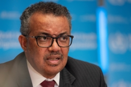 Director-General of the World Health Organization Tedros Adhanom Ghebreyesus says it is still possible to change the trajectory of the coronavirus pandemic [Christopher Black/WHO Handout via Reuters]
