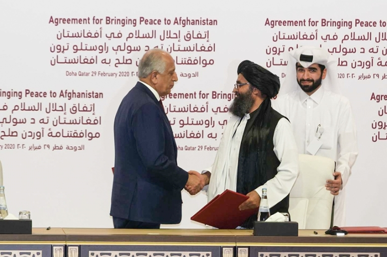 The peace deal was signed after 18 months of talks in Doha [Sorin Furcoi/Al Jazeera]