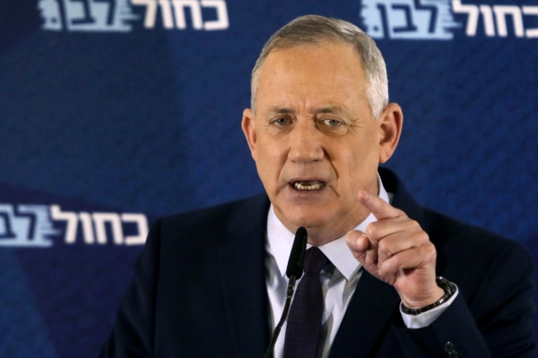 Blue and White party leader Benny Gantz had previously said he would not form a unity government with Benjamin Netanyahu [File: Sebastian Scheiner/AP Photo]