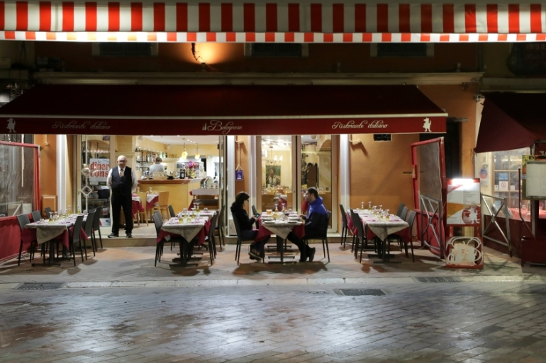 Most cafes, restaurants, cinemas, nightclubs and shops closed from midnight on March 14 to curb the spread of coronavirus in France [File: Eric Gaillard/Reuters]