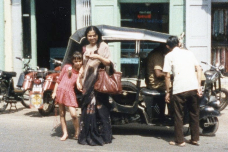 A 1983 photo from Rani's journey with her mother in Puttaparthi, Andhra Pradesh to meet the Indian guru considered by his followers to be divine [Photo courtesy of Rani Neutill]