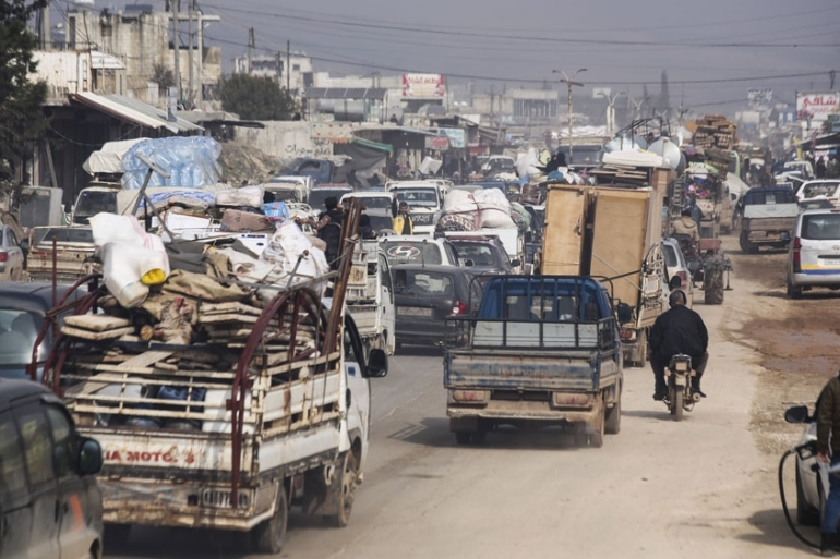 The UN estimates that more than 950,000 Syrians have been internally displaced as a result of the recent uptick in violence [File: Ghaith Alsayed/AP]