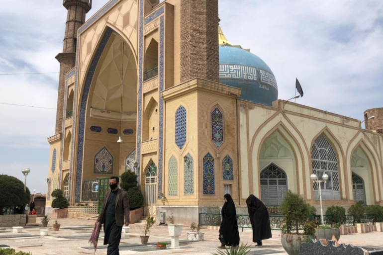 The Sultan Agha shrine in Herat is a major place for public gatherings during Nowruz [Agnieszka Pikulicka-Wilczewska/Al Jazeera]