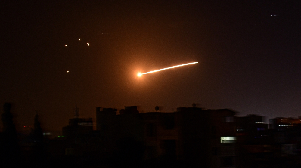 Syrian anti – aircraft missiles land near the Israeli nuclear site  Middle Eastern news