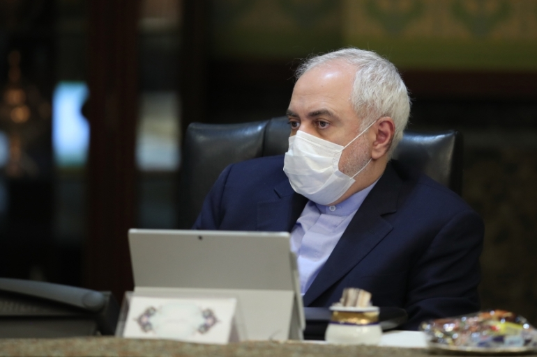 Iranian Foreign Minister Javad Zarif attends a cabinet meeting in Tehran on March 11, 2020 [File: Presidency of Iran/Anadolu]