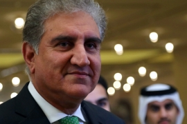 Pakistan's Foreign Minister Shah Mahmood Qureshi is seen before an agreement signing between the Taliban and the US in Doha, Qatar, February 29, 2020 [File: Ibraheem al Omari/Reuters]