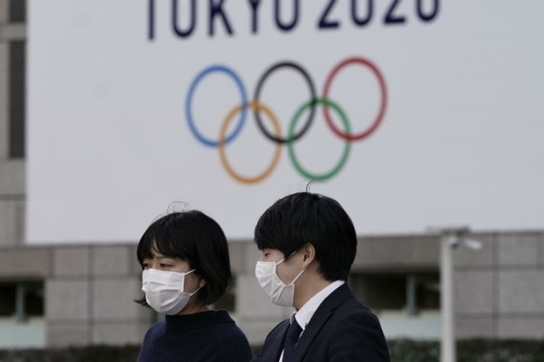 Pressure is growing on Japan to postpone the Tokyo Olympics, which are due to start in July [Kimimasa Mayama/EPA]