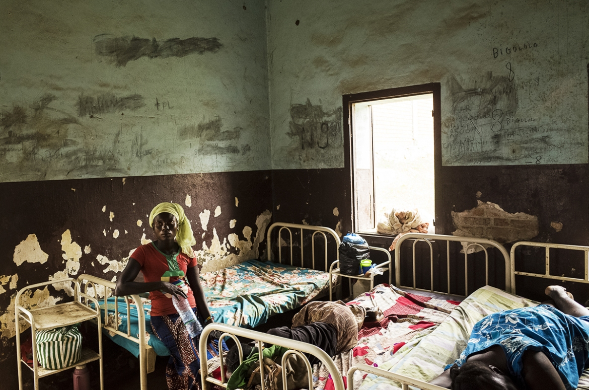 The psychiatric ward of Bangui General Hospital is the only one of its kind in the whole country. Many people who have suffered psychiatric trauma refuse to seek treatment, as mental illness is often conflated with witchcraft. [Ugo Lucio Borga/Al Jazeera]