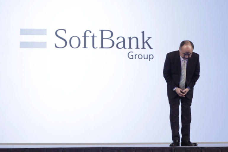 Softbank founder Masayoshi Son has faced criticism for his support of unproven and unprofitable startups, including The We Company, parent of the shared working space provider WeWork [File: Kiyoshi Ota/Bloomberg]