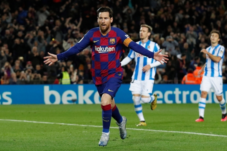 Argentina's Lionel Messi donated one million euros ($1.08 million) to help a public hospital in Barcelona fight the outbreak [Albert Gea/Reuters]