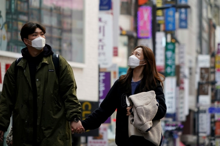 South Korea has used testing and technology to curb its coronavirus outbreak rather than closing down cities [Kim Hong-Ji/Reuters]