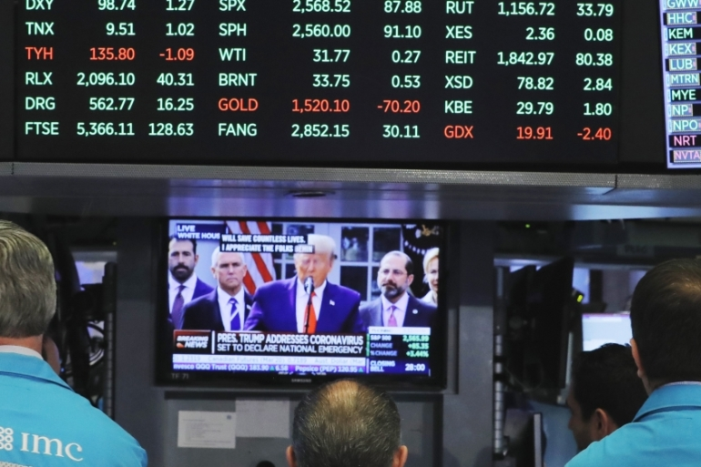 All the main S&P 500 subindexes were trading higher, with financial stocks rising 13.23 percent as expectations of further liquidity measures by the United States Federal Reserve pushed up Treasury yields, in what has become a very thin market [File: Reuters]