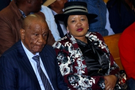 Lesotho's Prime Minister Thomas Thabane and his wife, Maesaiah Thabane [File: AP]