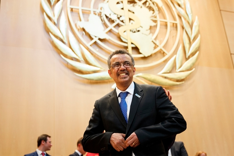 Dr Tedros Adhanom Ghebreyesus is the first African to lead the UN health body [Salvatore Di Nolfi/EPA]]