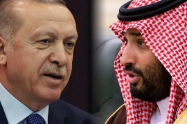 Relations between Turkey's President Recep Tayyip Erdogan (L) and Saudi Arabia's Crown Prince Mohammed bin Salman (R) have been strained [AP Photo]