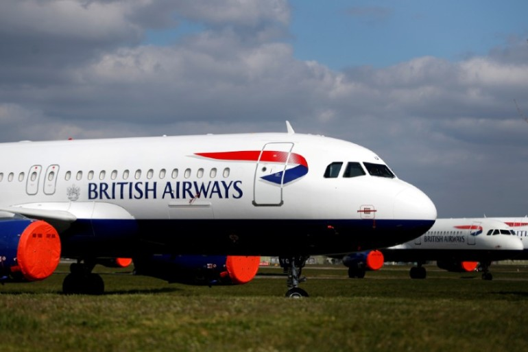British Airways planes have been largely grounded during the coronavirus pandemic [Paul Childs/Reuters]