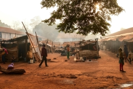 "The ""petit seminaire"" (small seminary) Internally Displaced People (IDP) camp in Bangassou, where 2000 muslim have been living for almost three years, on February 13th 2020 CAMILLE LAFFONT / AFP [AFP]"